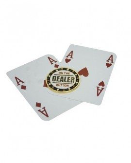 On the Dealer Button Brass Card Guard